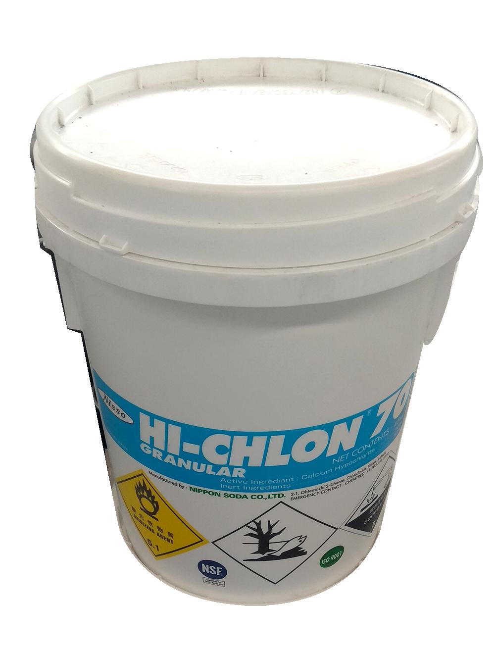 Chlorine Hi-Chlon Ca(OCl)2 70%, Nhật Bản, 45kg/thùng