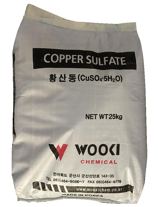 Copper sulfate 99% CuSO4.5H2O, Hàn Quốc, 25kg/bao