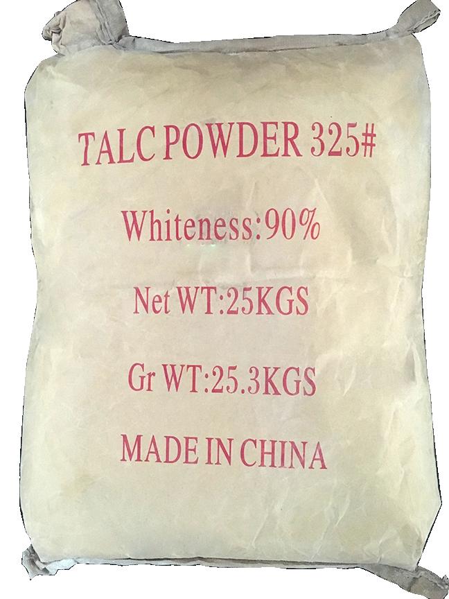 Bột Talc Mg3Si4O10(OH)2 90%, Trung Quốc, 25kg/bao