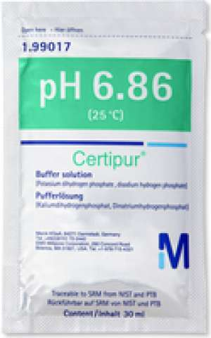 Buffer solution (Potassium dihydrogen phosphate, di-sodium hydrogen phophate) traceable to SRM from NIST and PTB pH 6.86 (25°C) Certipur® Merck