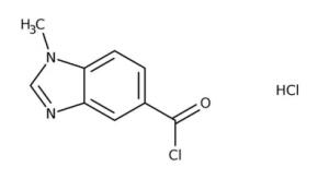 1-Methyl-1H-benzimidazole-5-carbonyl chloride hydrochloride 90%, 250mg Maybridge
