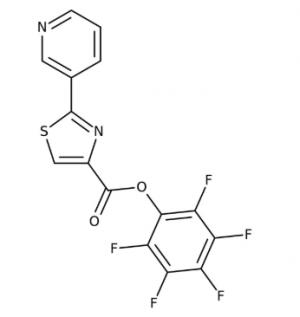 Pentafluorophenyl 2-pyrid-3-yl-1,3-thiazole-4-carboxylate 97%, 250mg Maybridge