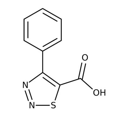 4-Phenyl-1,2,3-thiadiazole-5-carboxylic acid 97%, 250mg Maybridge