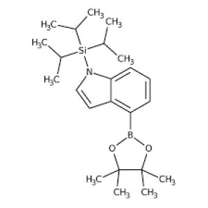 4-(4,4,5,5-Tetramethyl-1,3,2-dioxaborolan-2-yl)-1-(triisopropylsilyl)-1H-indole, ≥97% 250mg Maybridge