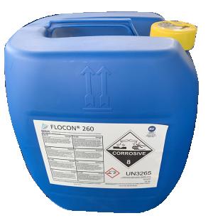 Hóa chất chống cáu cặn màng RO FLOCON 260, Đài Loan, 25Kg/can
