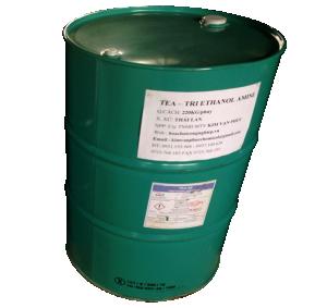 Tri ethanol amine C6H15NO3 99% (TEA), Thái Lan, 235kg/phuy