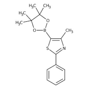 2-Methyl-4-[4-(4,4,5,5-tetramethyl-1,3,2-dioxaborolan-2-yl)phenyl]-1,3-thiazole, 97% 250mg Maybridge