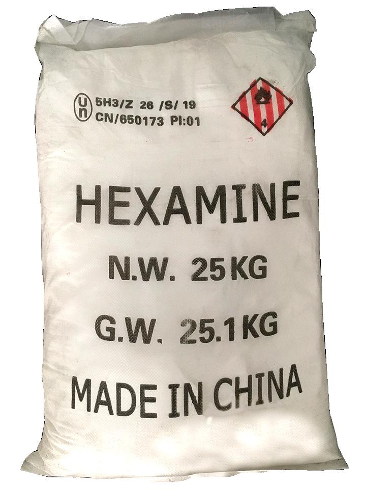 Hexamine C6H12N4 99%, Trung Quốc, 25kg/bao