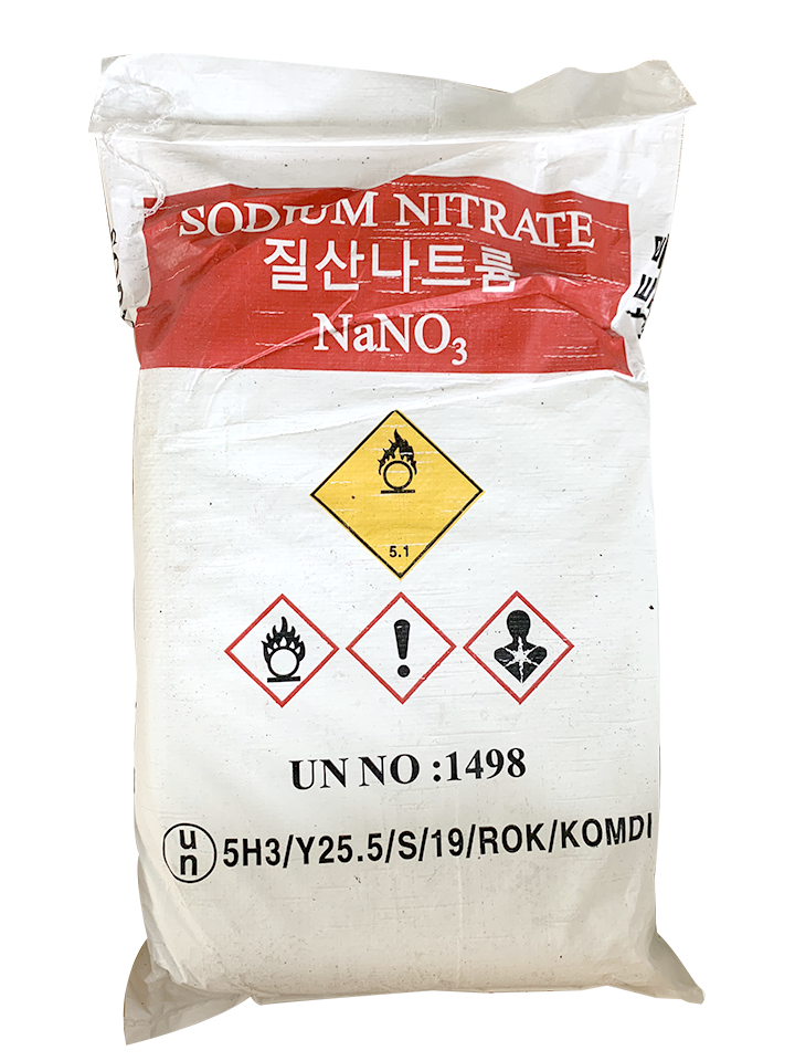 Sodium nitrate NaNO3  99%, Hàn Quốc, 25kg/bao