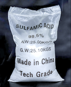 Hóa Chất Sulfamic Acid H3NSO3 99%, Trung Quốc, 25 kg/bao