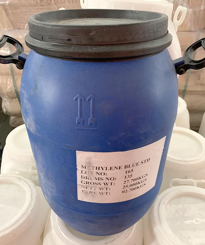 Xanh methylene, Trung Quốc, 25kg/thùng