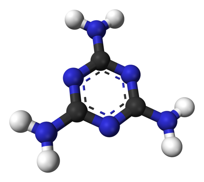 Cấu trúc phân tử Melamine