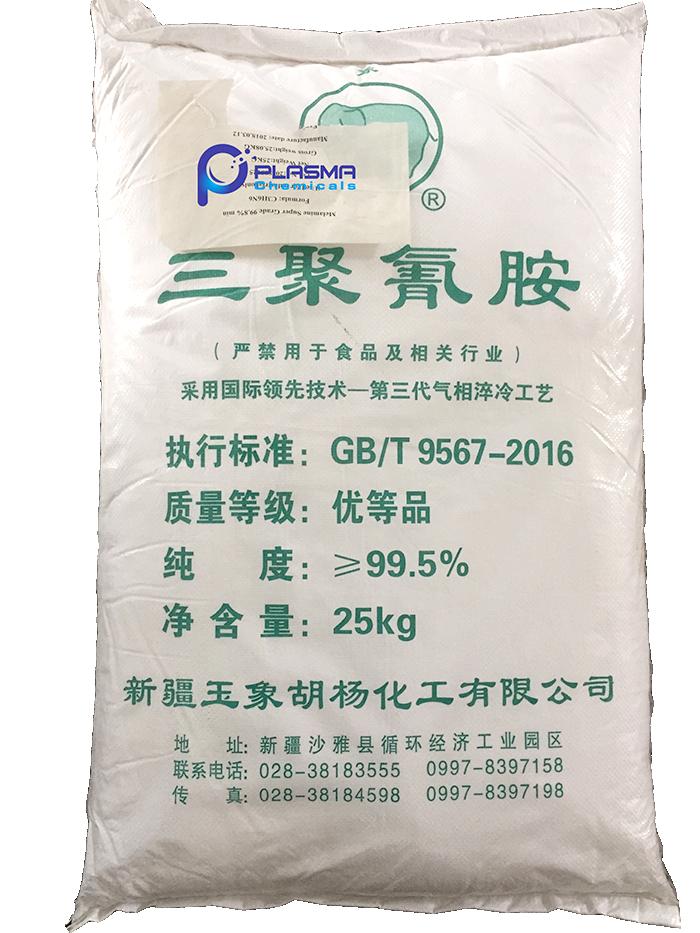 Melamine C3H6N6 99 %, Trung Quốc, 25kg/bao