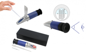 Khúc xạ kế đo độ ngọt có đèn led tự động bù trừ nhiệt độ (0 – 32% Brix) MTJ-032ATC Three-in-on