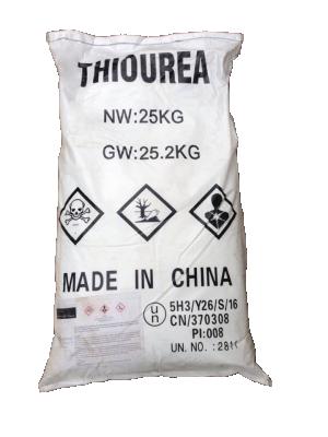 Thiourea 99% CH4N2S, Trung Quốc, 25kg/bao