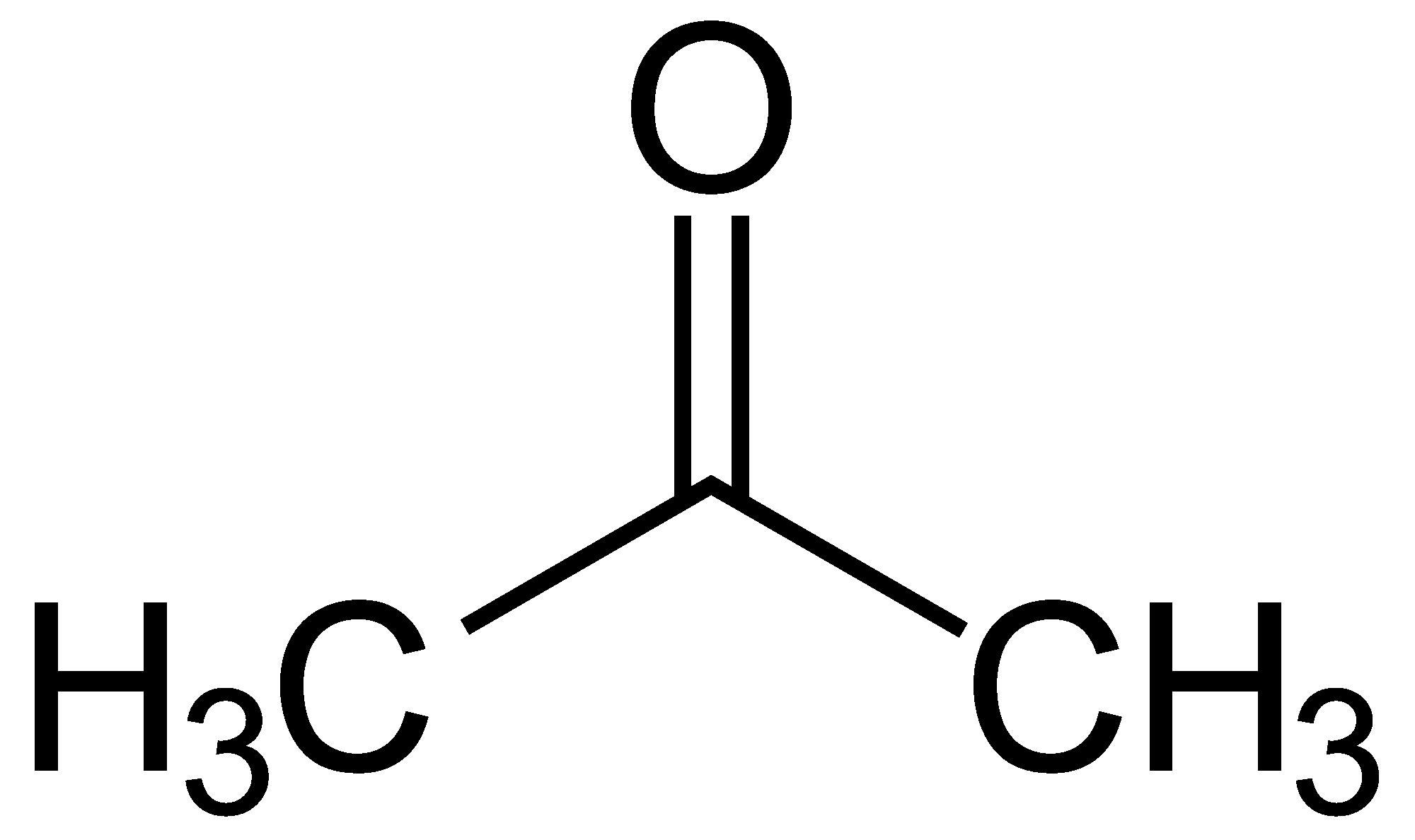 Cấu trúc hóa học của acetone