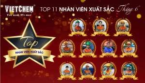 VietChem tuyên dương TOP 11 nhân viên xuất sắc tháng 6