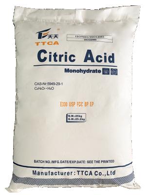 Acid citric C6H8O7.H2O 99,5%, Trung Quốc, 25kg/bao