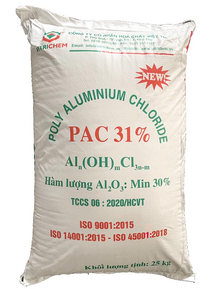 Hóa Chất PAC 31% (Poly Aluminium Chloride), Việt Trì, 25kg/bao