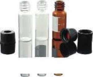 Chai vial thủy tinh ngắn, màu hổ phách 0.3ml, có dán nhãn VL9D Finetech