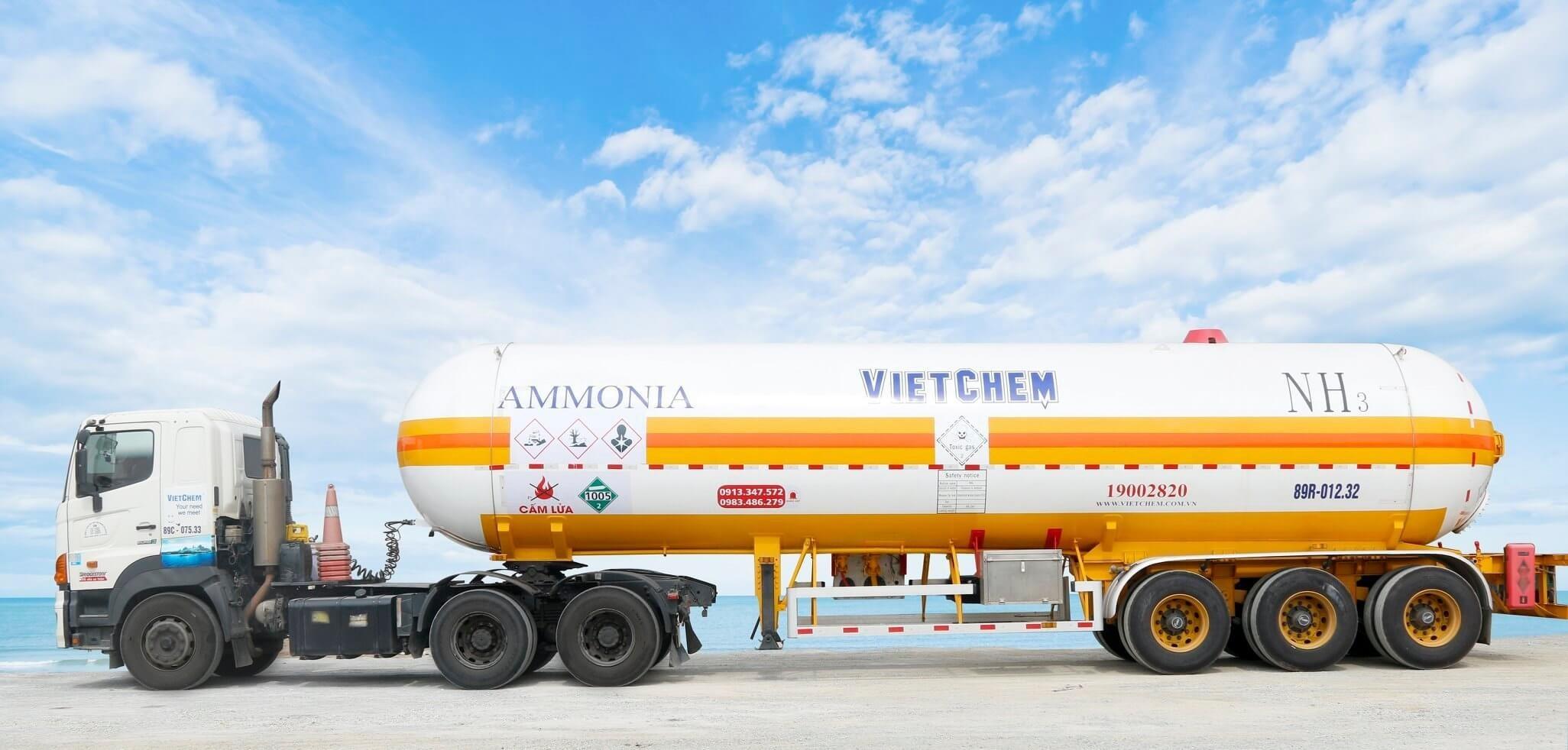 Amoniac khí NH3 99%, Việt Nam