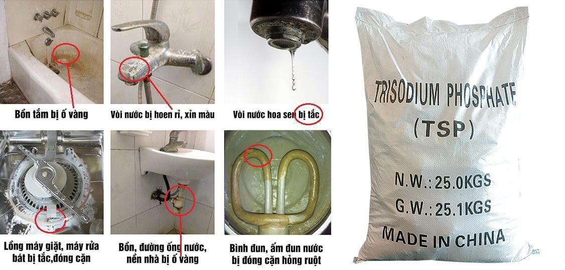 Dùng TSP để xử lí nước cứng