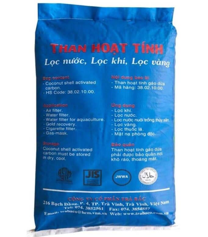 Than bột hoạt tính, Việt Nam, 25kg/bao