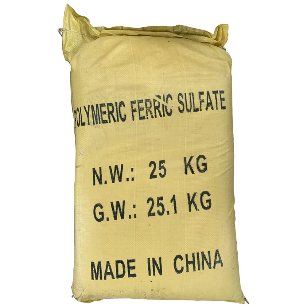 Polyme ferric sulphate (PFS), 25kg/bao, Trung Quốc