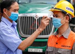 VIETCHEM thực hiện nghiêm các biện pháp phòng dịch Covid tại nhà máy Tân Thành