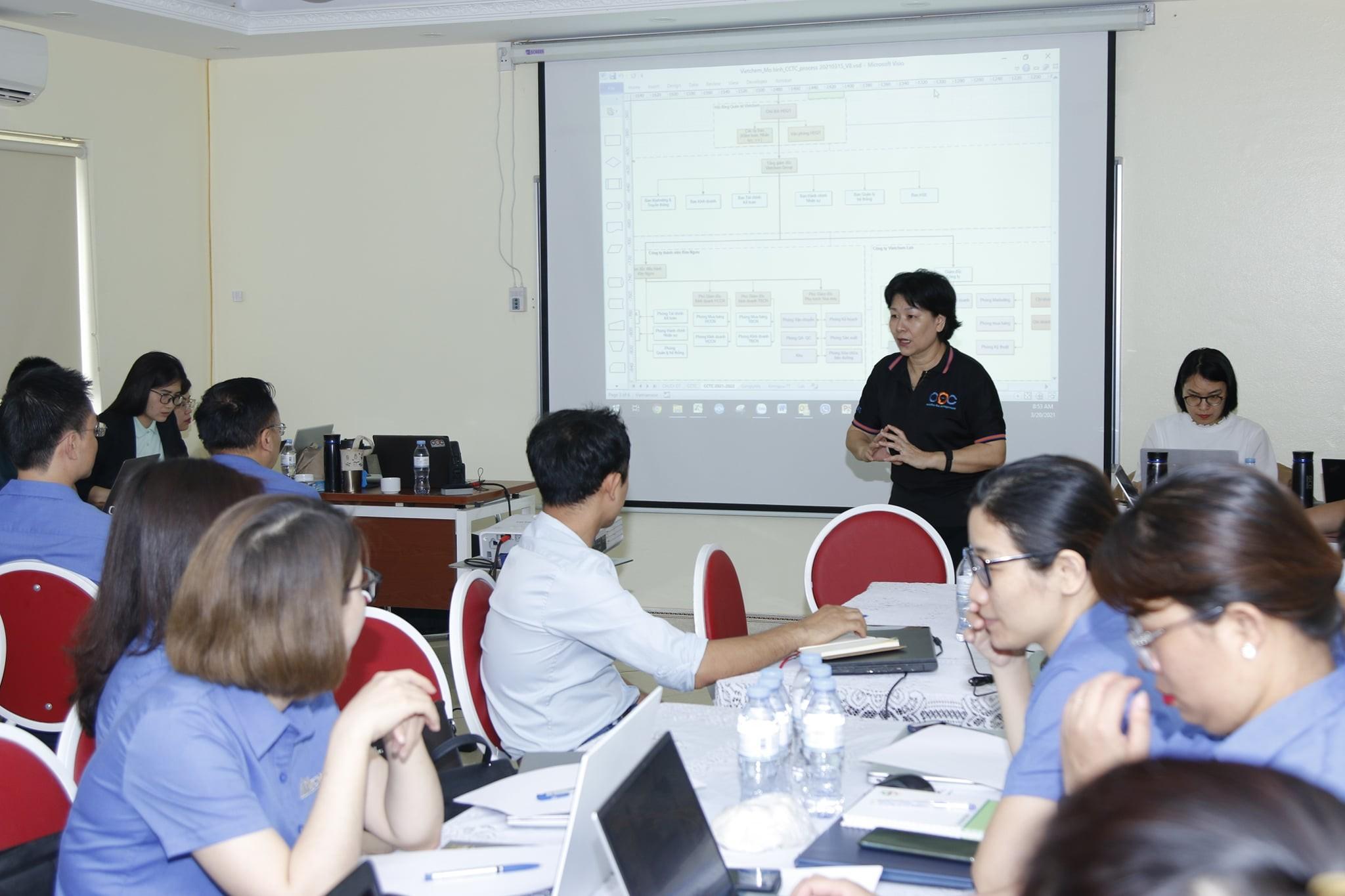 VietChem tổ chức buổi đào tạo xây dựng mô tả công việc và khung năng lực cho CBQL 1