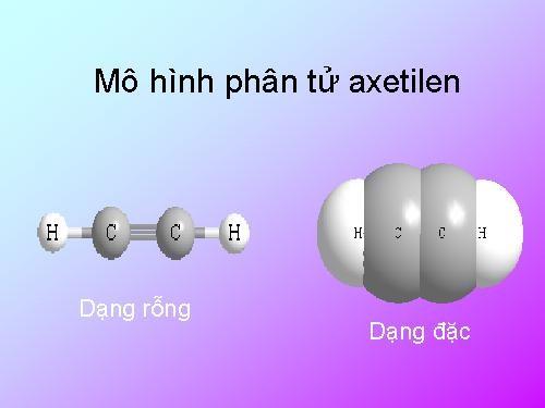 Cấu trúc phân tử của axetilen