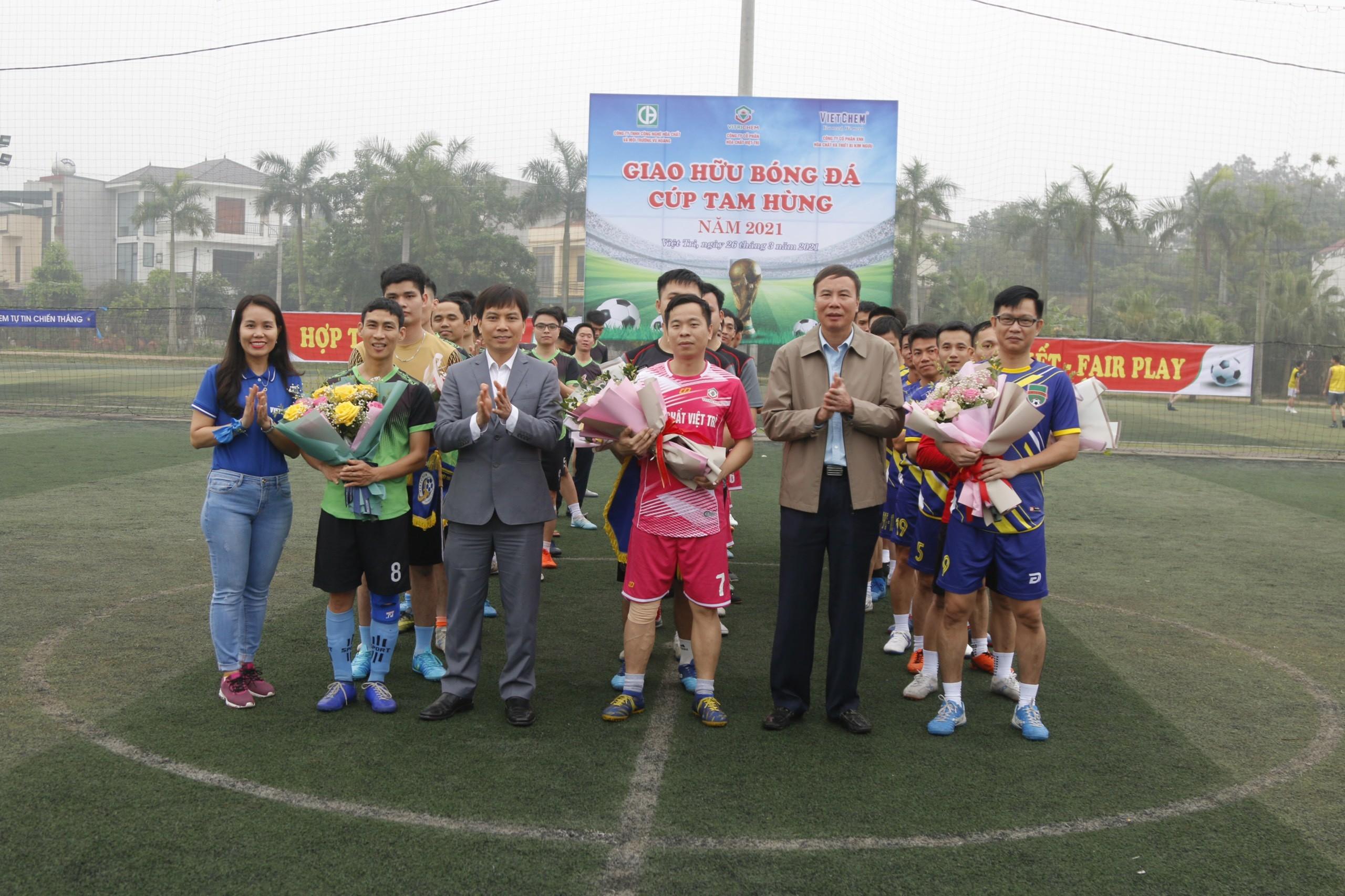 Ngày 26/4 tại Việt Trì, Phú Thọ đã diễn ra sự kiện giải bóng đá giao hữu giữa 3 công ty CP hóa chất Việt Trì, công ty CP XNK hóa chất và thiết bị VIETCHEM, công ty TNHH Công nghệ Hóa chất và Môi trường Vũ Hoàng. Đây là sự kiện thường niên hàng năm do các thành viên lần lượt đăng cai tổ chức nhằm tăng tình hữu nghị, gắn kết.