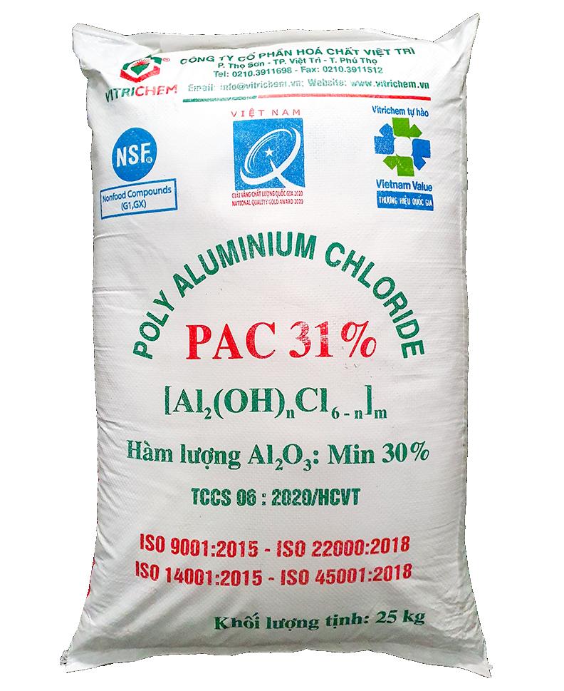 PAC bột 31% (Poly Aluminium Chloride) Việt Trì