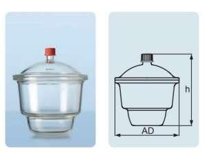 Bình hút ẩm có vòi dạng Mobilex, DIN 150, 2.4 lít, chưa vòi, chưa vĩ Duran