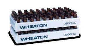 Chai vial nâu 1.5ml, 12x32mm, cổ vặn, ND8, không nắp Wheaton