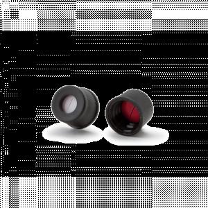 Nắp vặn đen nhựa, ND8, đệm silicone trắng/PTFE đỏ, có lỗ, có khe Wheaton