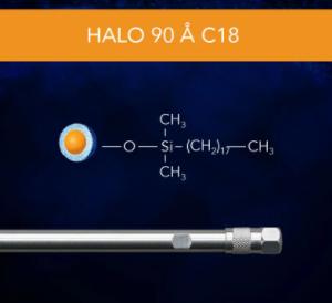 Halo 90 Å C18, 5 µm, 2.1 x 50 mm HPLC Column