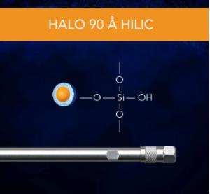 HALO 90 Å HILIC, 2 µm, 2.1 x 50 mm HPLC Column