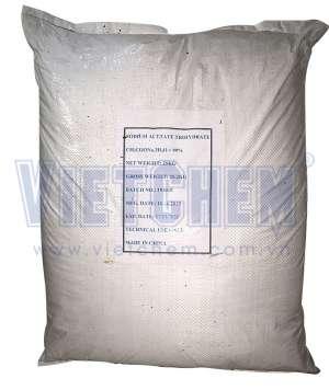 Sodium acetate 99% CH3COONa.3H20, Trung Quốc, 25kg/bao