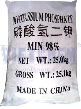 Potassium hydrophosphate K2HPO4 98%, Trung Quốc, 25kg/bao