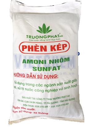Phèn kép Amoni nhôm sunfat NH4Al(SO4)2, Việt Nam, 25kg/bao