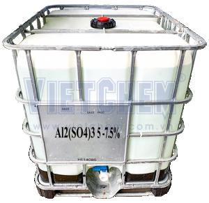 Phèn nhôm sunfat lỏng Al2(SO4)3 5-7.5%, Việt Nam, 1 tấn/tank