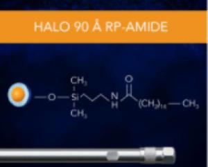HALO 90 Å RP-Amide, 2,7 µm, 4.6 x 50 mm HPLC Column