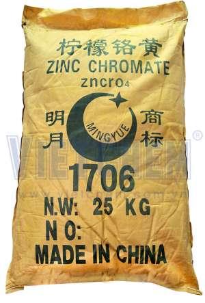 Zinc chromate ZnCrO4, Trung Quốc, 25kg/bao