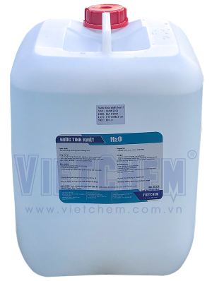 Nước cất 2 lần, Việt Nam, 20 lít/can