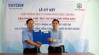 VietChem ký kết hợp đồng đại lý phân phối độc quyền hóa chất PAC 30%