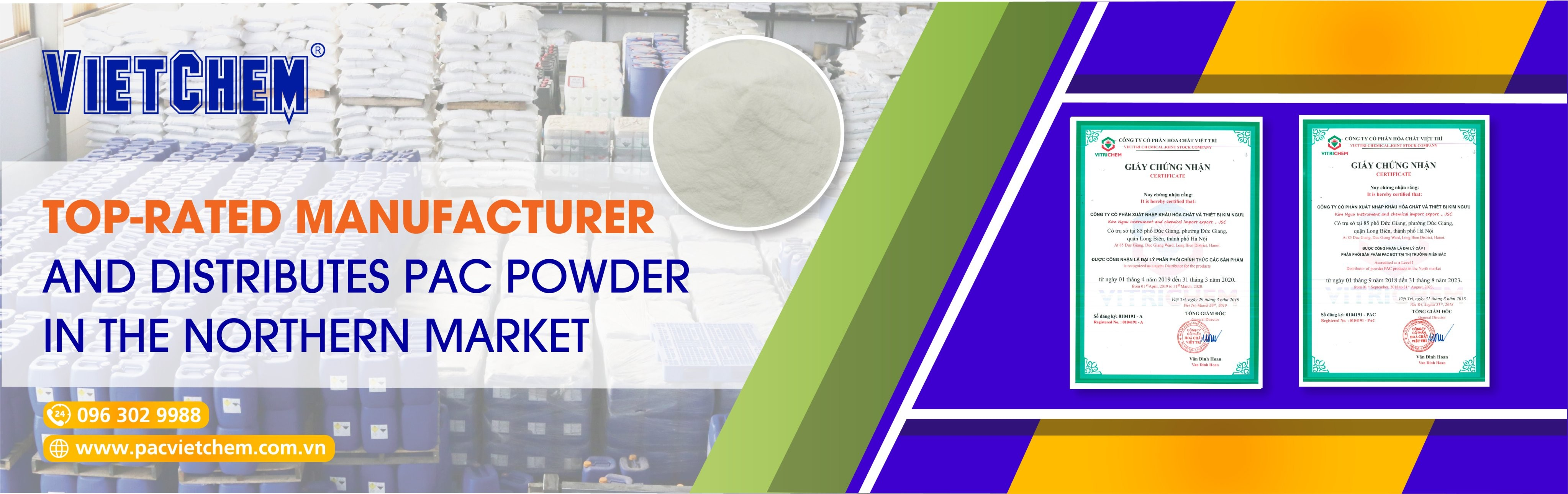 Đại lý cấp 1 phân phối PAC bột tại thị trường miền Bắc