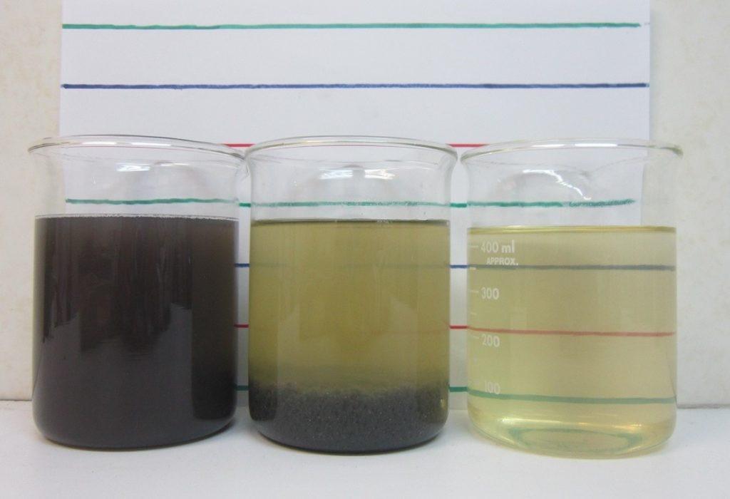 Sự thay đổi của nước sau khi dùng PAC để xử lý
