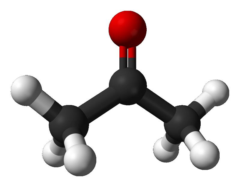 Cấu trúc phân tử của acetone