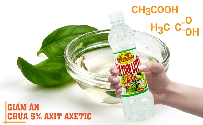 Giấm ăn chứa 5 - 7% axit axetic
